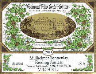 Mülheimer Sonnenlay Riesling Auslese - Ryzlink rýnský, Mosela, Německo